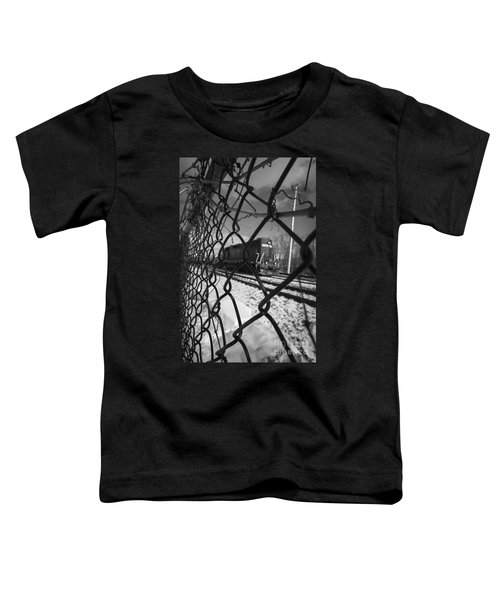Train Through The Chain Link Fence Toddler T-Shirt