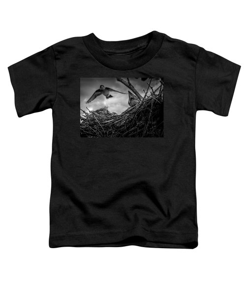 Tree Swallows In Nest Toddler T-Shirt