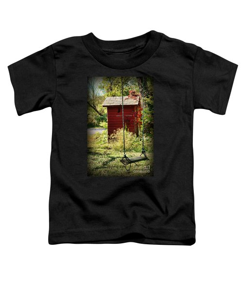 Tree Swing By The Outhouse Toddler T-Shirt
