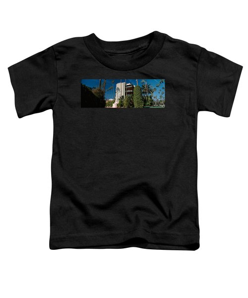 Trees In Front Of A Hotel, Beverly Toddler T-Shirt by Panoramic Images