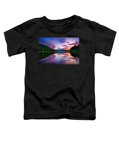 Trillium Lake Sunrise Toddler T-Shirt