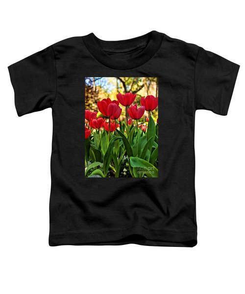 Tulip Time Toddler T-Shirt by Peggy Hughes