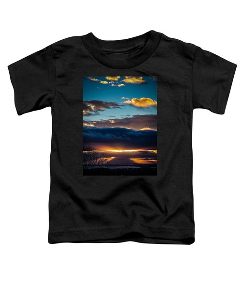 Toddler T-Shirt featuring the photograph Tunnels Of Light Over Ireland's Shannon Airport by James Truett