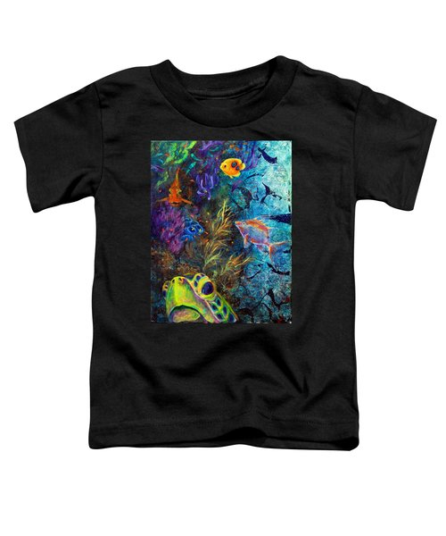Turtle Wall 3 Toddler T-Shirt
