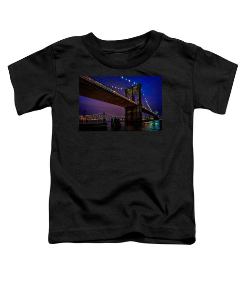 Twilight At The Brooklyn Bridge Toddler T-Shirt