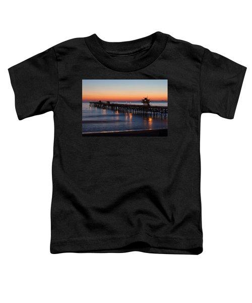 Twilight San Clemente Pier Toddler T-Shirt