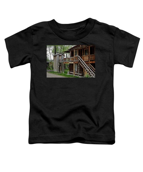 Two Story Outhouse - Nevada City Montana Toddler T-Shirt