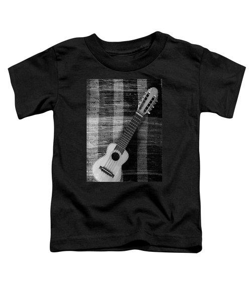 Ukulele Still Life In Black And White Toddler T-Shirt