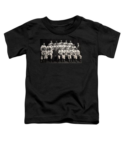 University Of Michigan - 1953 College Baseball National Champion Toddler T-Shirt by Mountain Dreams