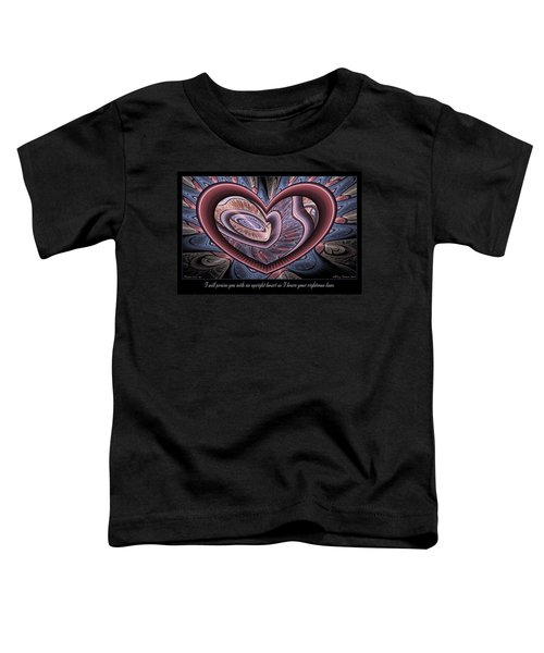 Upright Heart Toddler T-Shirt