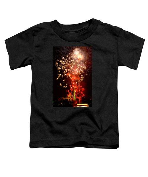 Usa, Washington Dc, Fireworks Toddler T-Shirt by Panoramic Images