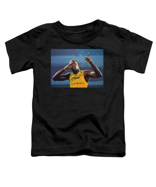 Usain Bolt Painting Toddler T-Shirt