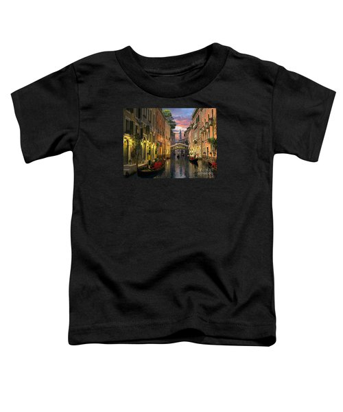 Venice At Dusk Toddler T-Shirt by Dominic Davison