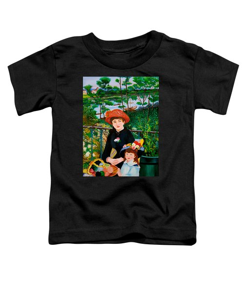 Version Of Renoir's Two Sisters On The Terrace Toddler T-Shirt