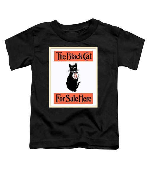 Toddler T-Shirt featuring the digital art Vintage Advertisement For The Black Cat Magazine by Joy McKenzie
