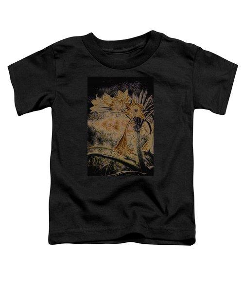 Vintage Angel Trumpet Art Golden Toddler T-Shirt