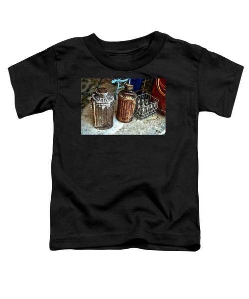Hdr Vintage Art  Cans And Bottles Toddler T-Shirt