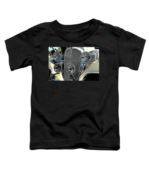 Vintage Car Art Buick Grill And Headlight Hdr Toddler T-Shirt