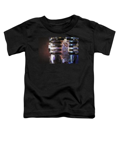 Vintage Microphone Painted Toddler T-Shirt