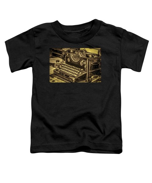 Vintage Typewriter Toddler T-Shirt