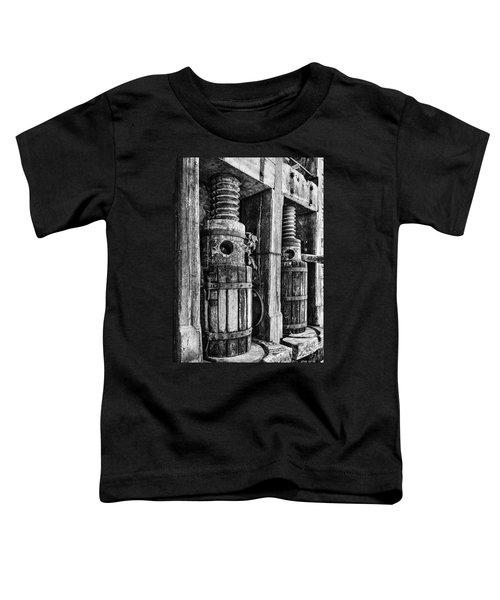 Vintage Wine Press Bw Toddler T-Shirt
