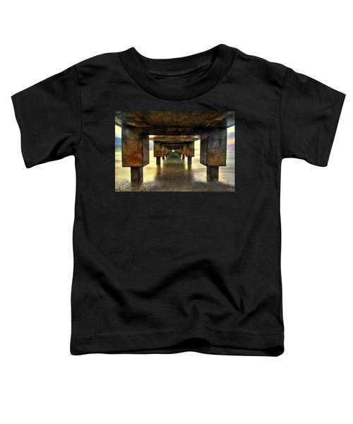 Vintaged Hanalei Pier  Toddler T-Shirt