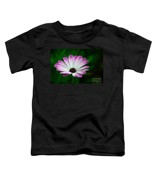 Violet And White Flower Petals With Yellow Stamens Blossoms  Toddler T-Shirt