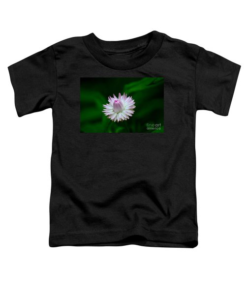 Violet And White Flower Sepals And Bud Toddler T-Shirt