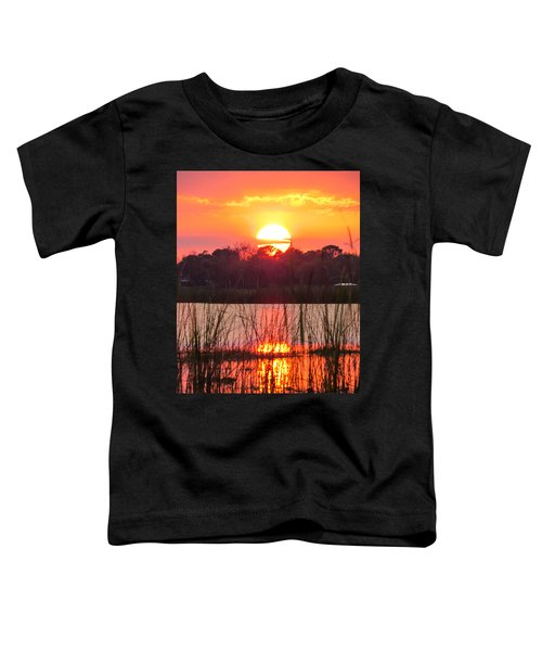 Walk In The Water Sunset Toddler T-Shirt