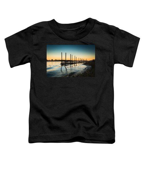 Wavy Sunset Kings Park New York Toddler T-Shirt