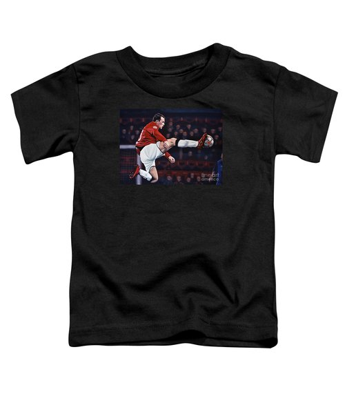 Wayne Rooney Toddler T-Shirt by Paul Meijering