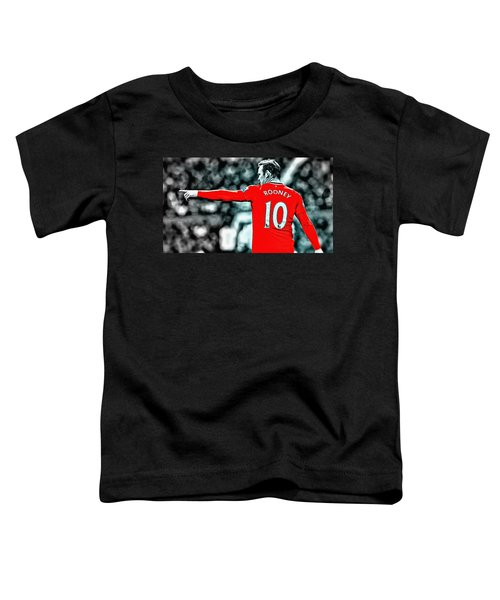 Wayne Rooney Poster Art Toddler T-Shirt by Florian Rodarte