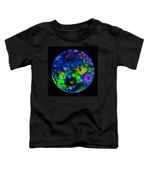Weed Planet Full Of Cannabis Plants Toddler T-Shirt