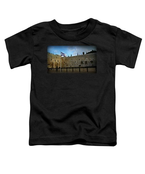 Western Wall And Israeli Flag Toddler T-Shirt