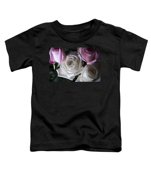 White And Pink Roses Toddler T-Shirt