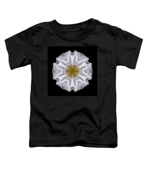 White Beach Rose I Flower Mandala Toddler T-Shirt