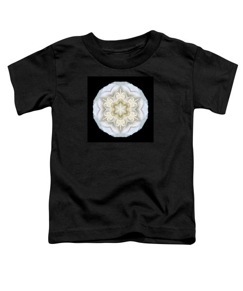 White Begonia II Flower Mandala Toddler T-Shirt