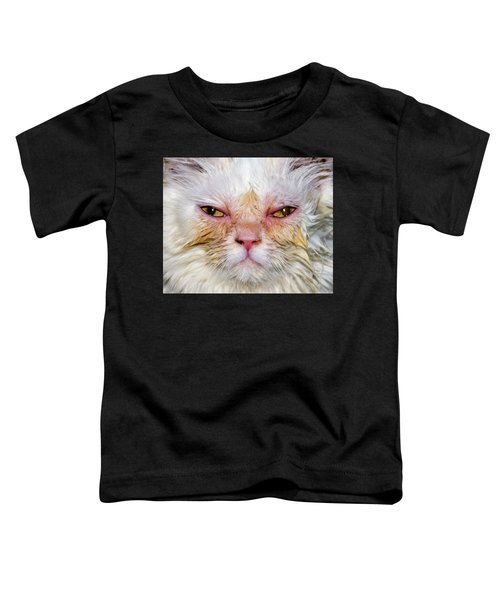 Scary White Cat Toddler T-Shirt