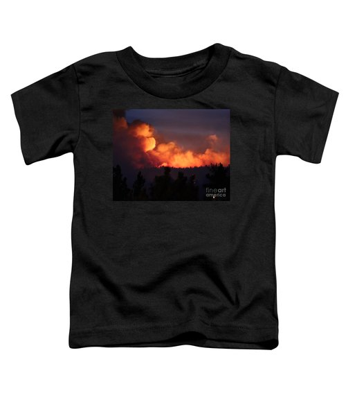 White Draw Fire First Night Toddler T-Shirt
