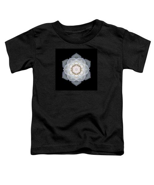 White Rose I Flower Mandala Toddler T-Shirt
