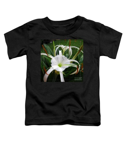 White Spider Lily Flower Toddler T-Shirt