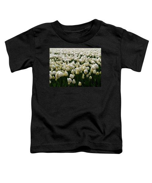 White Tulip Field  Toddler T-Shirt