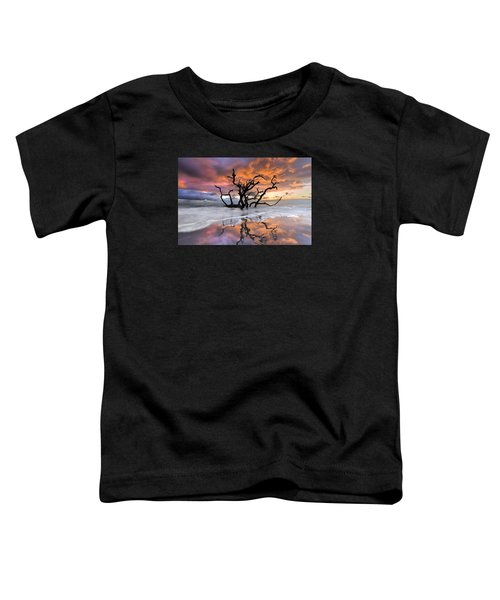 Toddler T-Shirt featuring the photograph Wildfire by Debra and Dave Vanderlaan