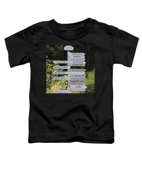 Winery Street Sign In The Sonoma California Wine Country 5d24601 Square Toddler T-Shirt