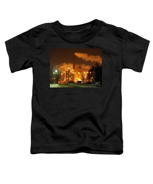 Winter Night At Sunila Pulp Mill Toddler T-Shirt