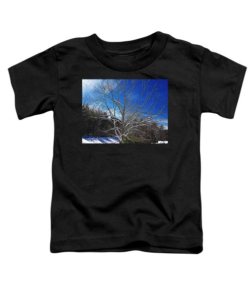 Winter Tree On Sky Toddler T-Shirt