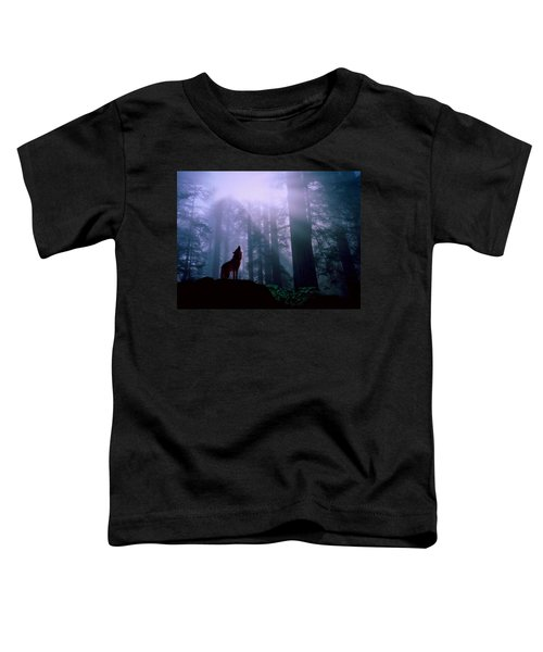 Wolf In The Woods Toddler T-Shirt