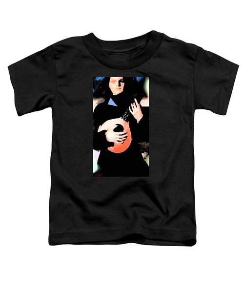 Toddler T-Shirt featuring the painting Women With Her Guitar by Colette V Hera  Guggenheim