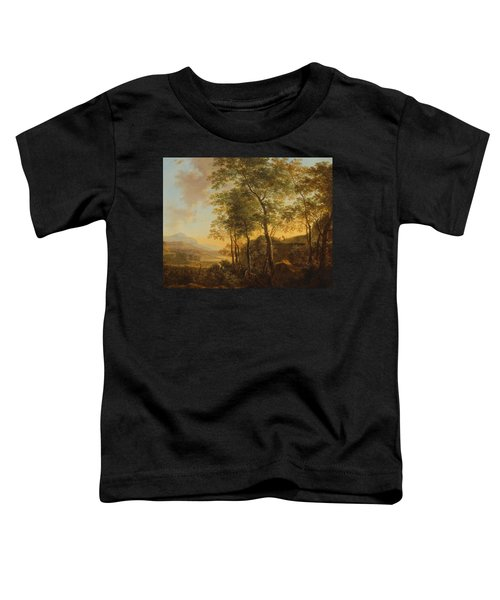 Wooded Hillside With A Vista Toddler T-Shirt by Jan Both