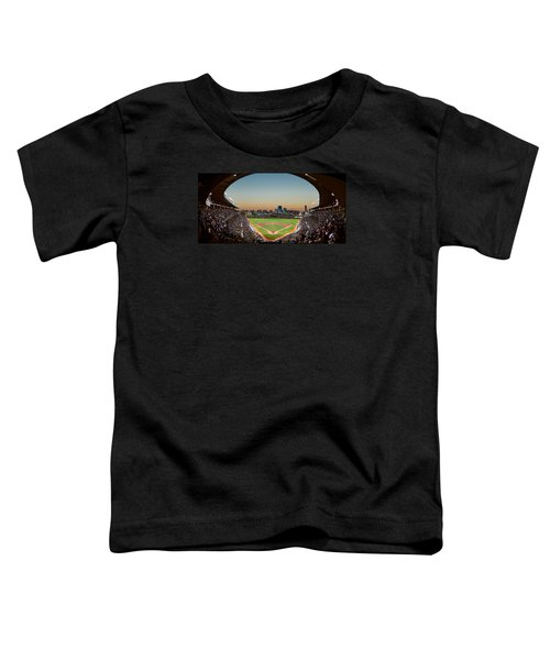 Wrigley Field Night Game Chicago Toddler T-Shirt by Steve Gadomski